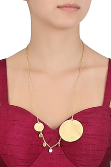 Matte Gold Plated Ladoo Play Chain Necklace