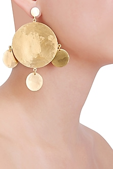 Matte Gold Plated Ladoo Earrings by Dhora
