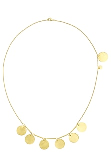 Matte Gold Plated Ladoo Tribe Necklace by Dhora