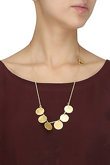 Matte Gold Plated Ladoo Tribe Necklace