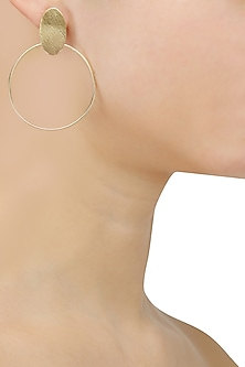 Gold Plated Oat Hoop Earrings