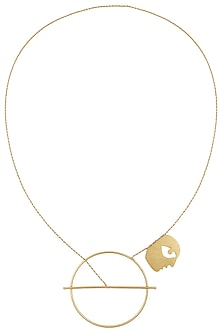 Gold Plated Bobo Chain Necklace by Dhora