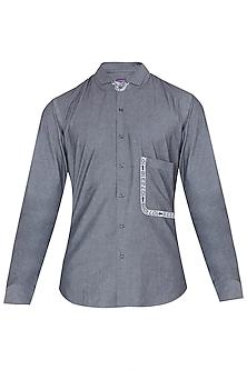 Dark Grey Digital Printed Shirt