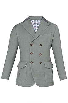 Green Double Breasted Jacket