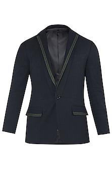 Black Khadi Cotton Twill Jacket