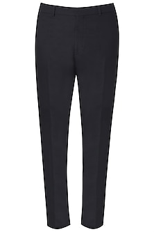 Black Side Striped Trousers by Dhruv Vaish