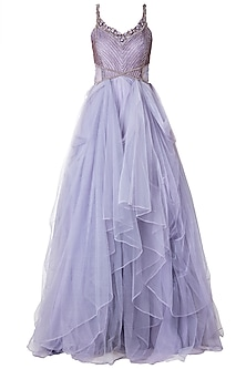 Lilac Embroidered Gown