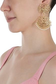 Gold Plated Lotus Earrings