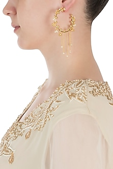Gold Plated Pearl Embellished Baalis