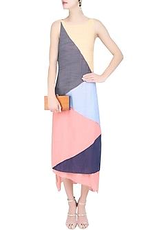 Multicolor Geometric Patchwok Maxi Dress by Diksha Khanna