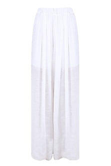 Ivory Box Pleated Trouser Pants
