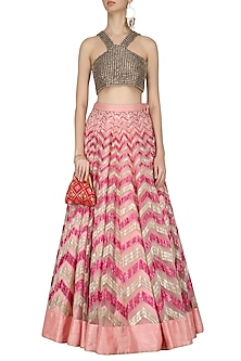 Gold Kundan Kadi Crop Top by Diva'ni