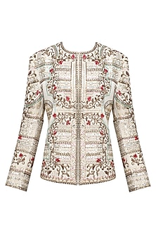 Ivory Zardozi Floral Embroidered Jacket