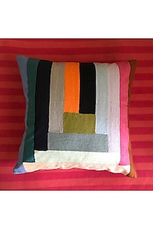 Multicolor Embroidered Cushion Cover by Karmadori