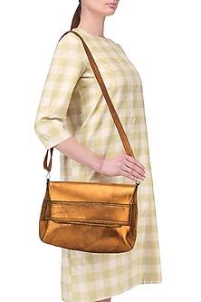 Orange metallic sling bag
