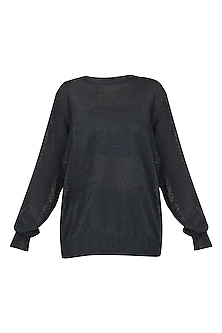 Black metallic jumper