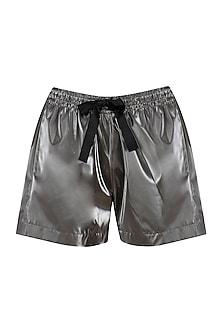 Metallic Silver Running Shorts
