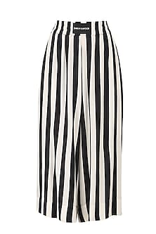 Stripe Black Boxing Flare Pants