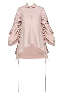 Blush Pink Clicnched Shirt