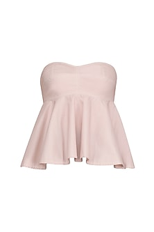 Blush Pink Strapless Bralet/ Top