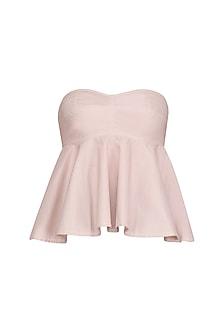 Blush Pink Strapless Bralet/ Top