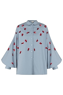 Dusty Blue Batwing Shirt