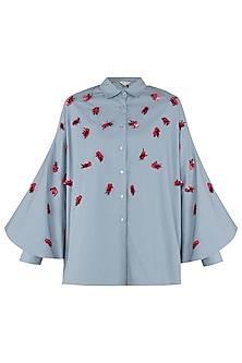 Dusty Blue Batwing Shirt
