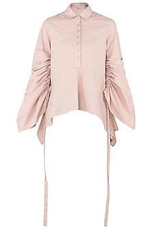 Blush Pink Asymmetrical Shirt