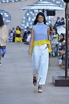 White wide legged marcpants by Dhruv Kapoor