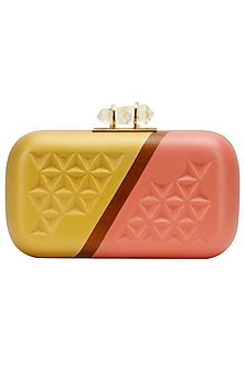 """Gold and pink """"Two tone"""" clutch by Duet Luxury"""