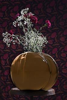 Gold Aluminum Vase by Metl & Wood