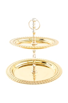 Gold Steel High Tea Savoury Stand by Metl & Wood