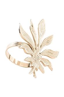 Silver Aluminium Leaf Napkin Ring (Set of 6) by Metl & Wood