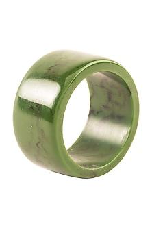 Green & Black Resin Napkin  Ring (Set of 6) by Metl & Wood
