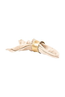 Gold-cuff Brass Napkin Ring (Set of 6) by Metl & Wood