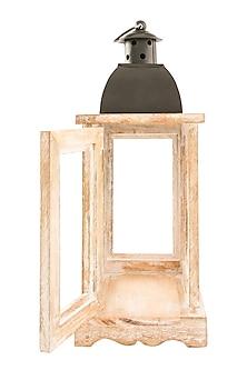 Brown Wood & Iron Lantern by Metl & Wood