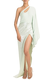 Mint One Shoulder Dress by Deme by Gabriella