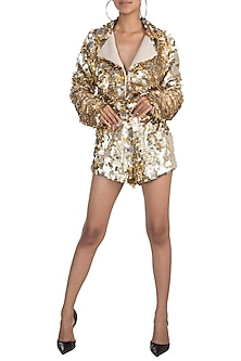 Golden Discs Jacket With Pants by Deme by Gabriella