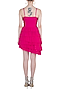 Fuschia Pink Ruffled Mini Dress by Deme by Gabriella