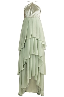 Mint Green Layered Gown by Deme by Gabriella