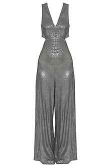 Grey Sequins Jumpsuit