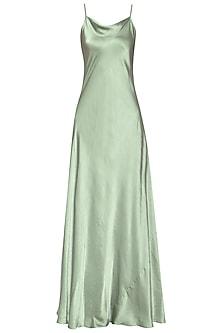 Mint Green Slip Gown by Deme by Gabriella