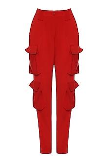 Red Pocket Pants