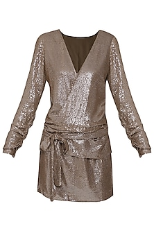 Champagne Sequins Dress