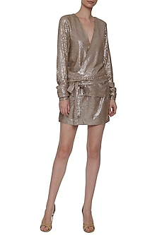 Champagne Sequins Dress by Deme by Gabriella