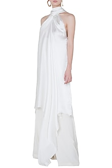 White high neck dress by DEME BY GABRIELLA