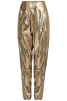 Gold elastic pants by DEME BY GABRIELLA