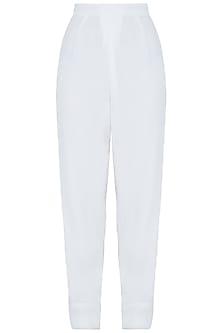 White easy fit pants by DEME BY GABRIELLA