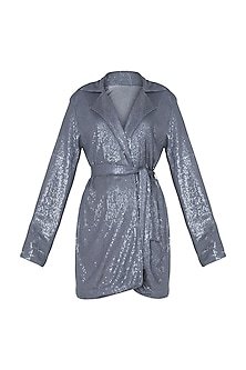 Grey sequins blazer by DEME BY GABRIELLA