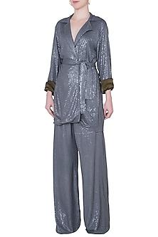 Grey sequins blazer by DEME BY GABRIELLA
